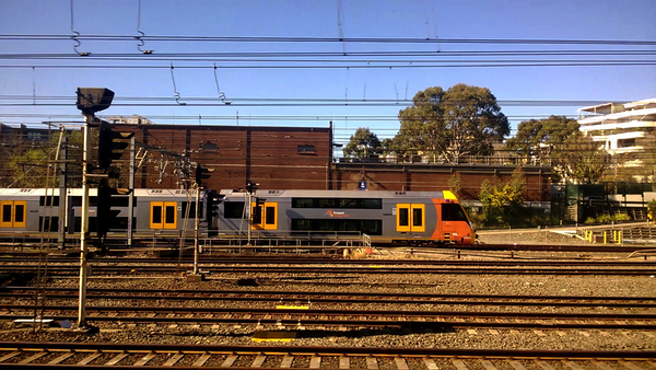 "Approaching Sydney Central, a frame from ""Strathfield to Central"": click to embiggen"