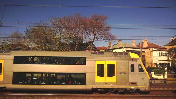 En route, a frame from Strathfield to Central: click to embiggen