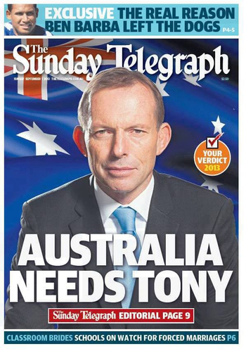 Sunday Telegraph from cover: click to embiggen