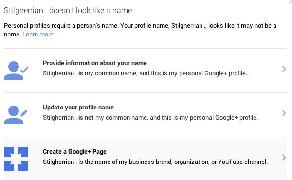 Google+ screenshot 2: see text for a description