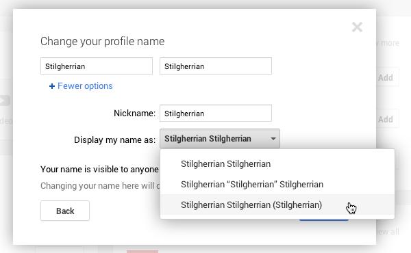 Google+ screenshot 3: see text for a description