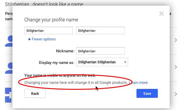 Google+ screenshot 4: see text for a description