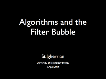 "Title card for ""Algorithms and the Filter Bubble"""