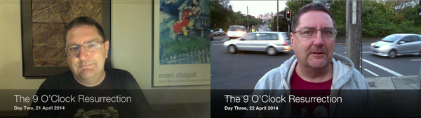 Screenshots from The 9 O'Clock Resurrection progress videos 2 and 3: click for YouTube playlist