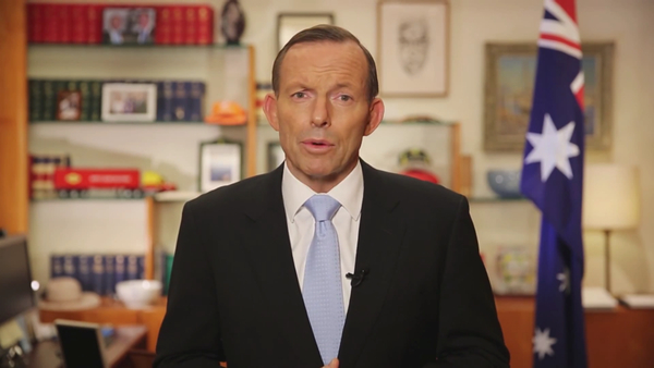 Screenshot from Tony Abbott D-Day video 600px: click to embiggen