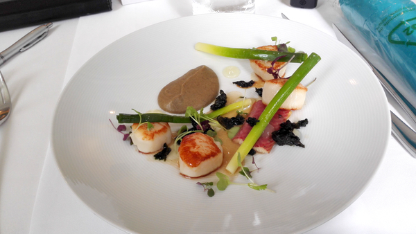 Scallops and eel, est restaurant: click to embiggen