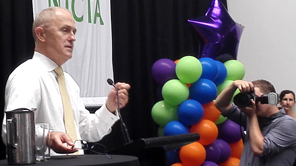 Malcolm Turnbull launching NICTA Techfest 2015