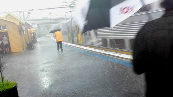 Downpour at Katoomba station: click to embiggen