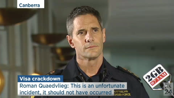 Australian Border Force Commissioner Roman Quaedvlieg, screenshot from ABC TV