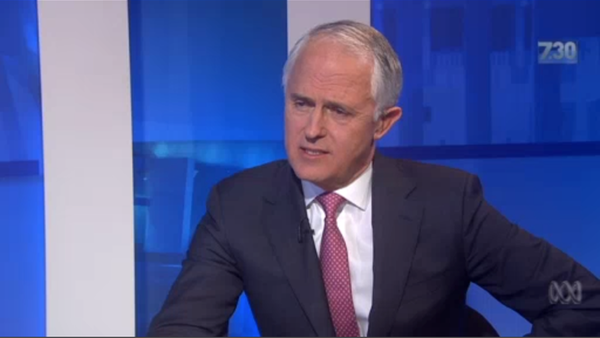 Malcolm Turnbull screenshot from ABC TV's 7.30