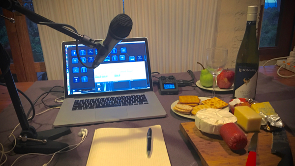 The 9pm Edict recording setup