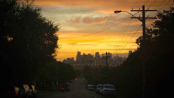 Sydney Sunrise from Lilyfield: click to embiggen