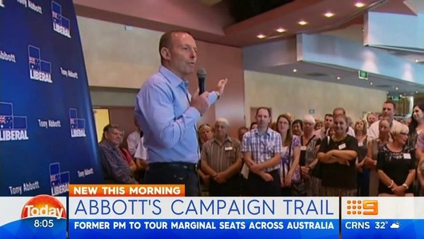 Tony Abbott on the campaign trail