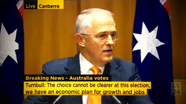 Malcolm Turnbull announces the federal election