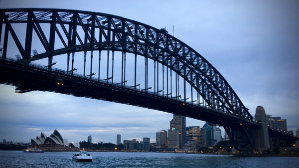 Sydney Harbour Bridge from Milsons Point Wharf: click to embiggen