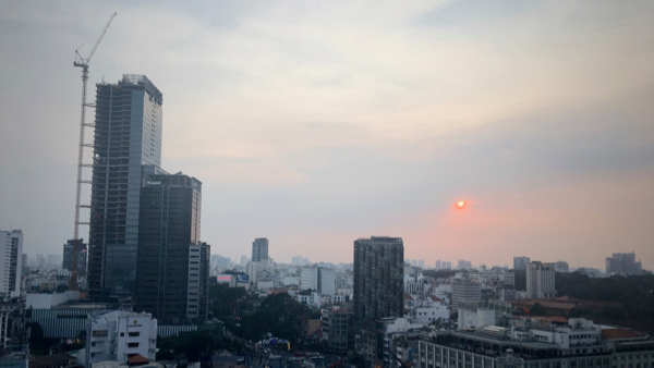 Sunset over Ho Chi Minh City