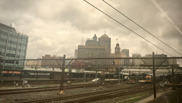 Approaching Sydney Central station