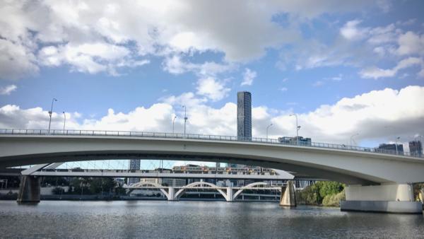 Nested bridges on the Brisbane River