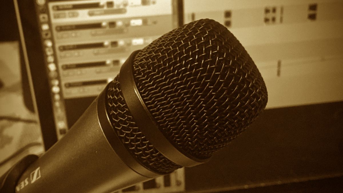 Microphone and Mix Sepia