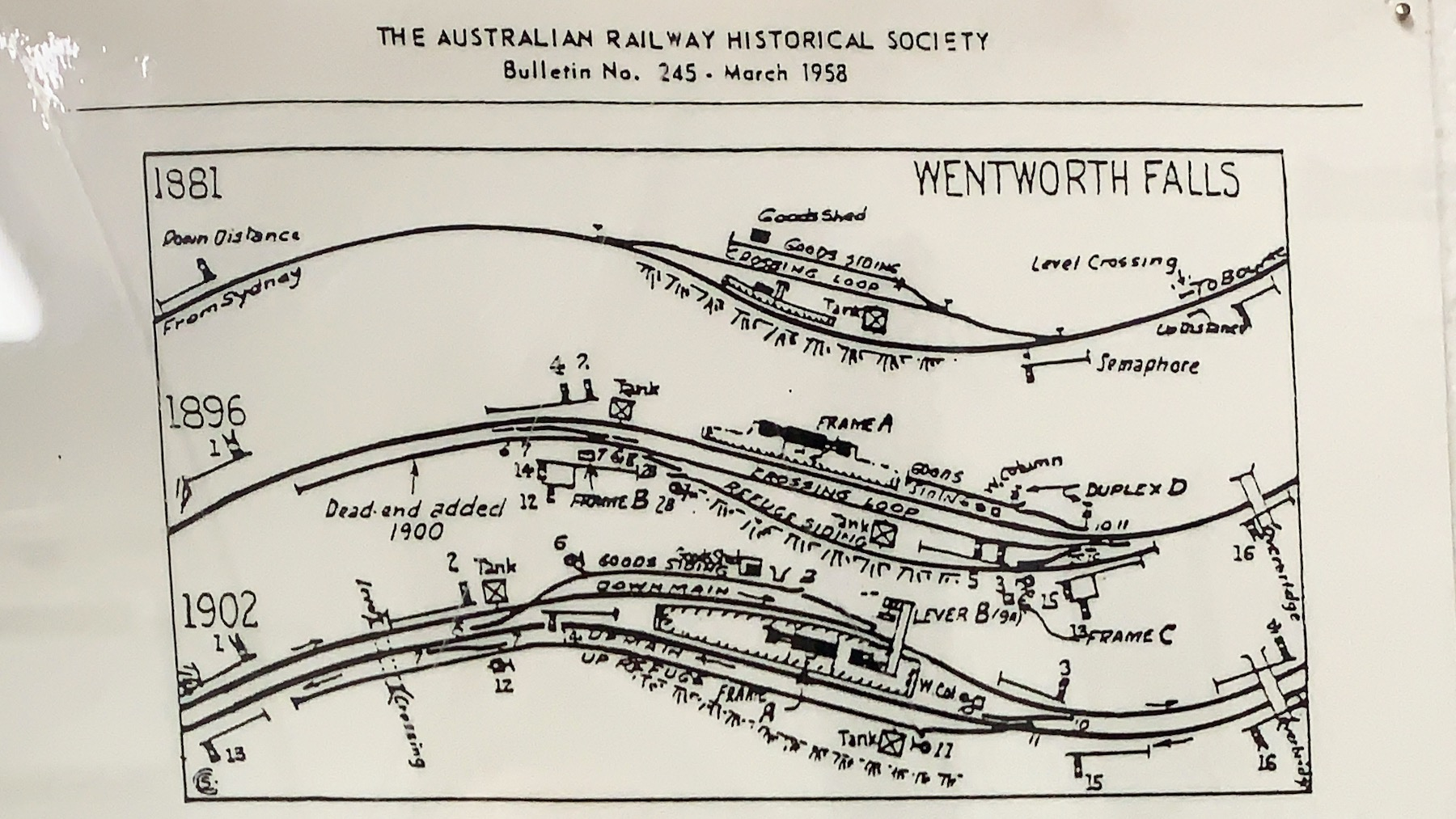 Wentworth Falls station track layouts