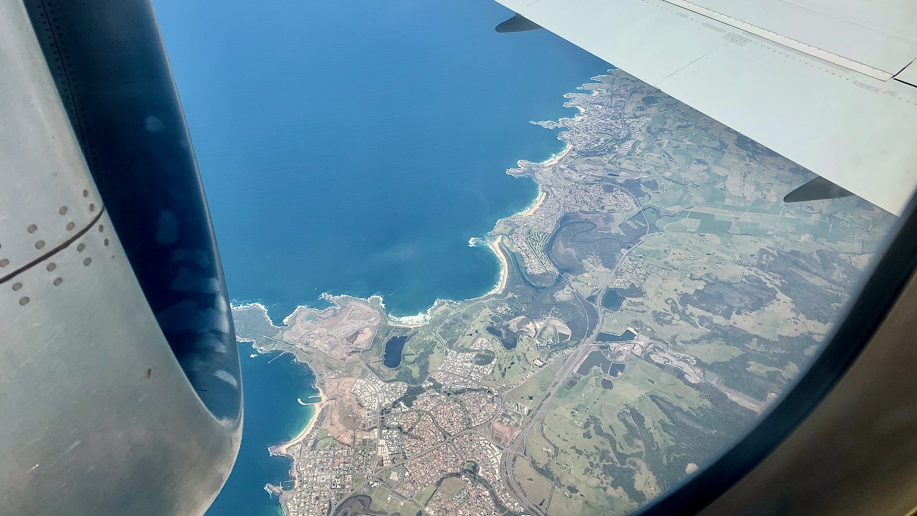 Shellharbour and coast to the south