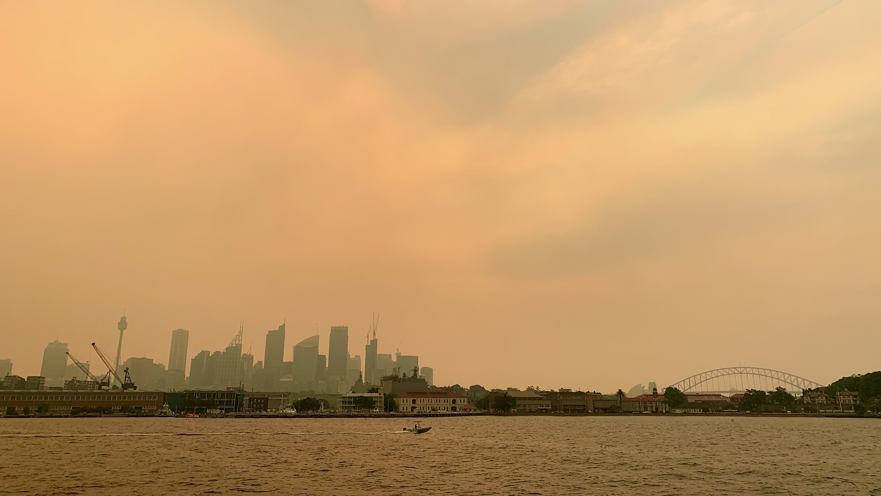 Sydney Harbour in the Bushfires