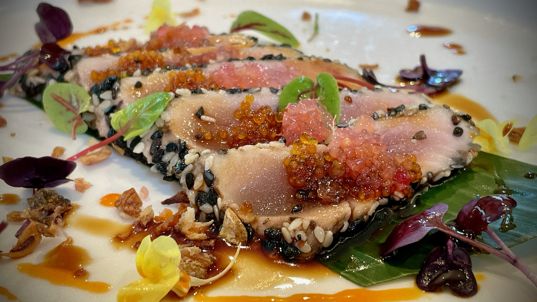 Yellowfin Tuna and Black Sesame