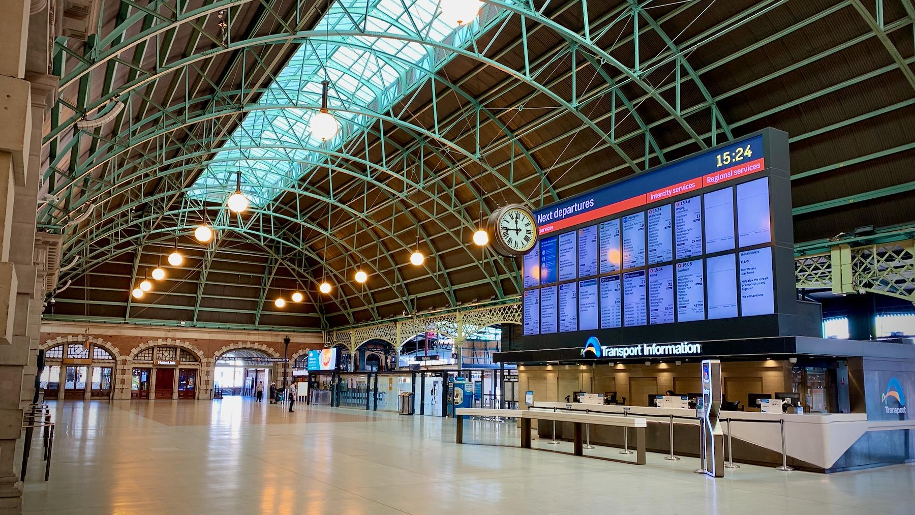 Sydney Central deserted 10 April 2020