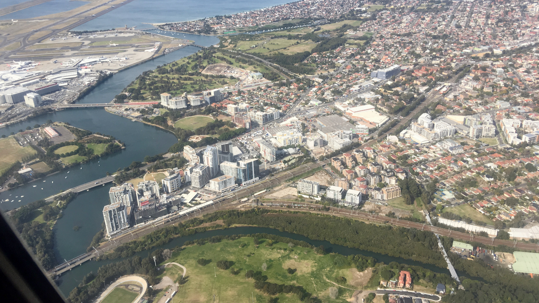 Wolli Creek from the air